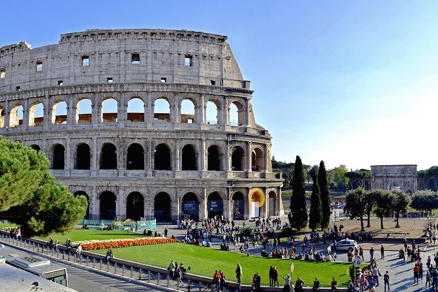ローマ、コロッセオ、イタリア風景、世界遺産、