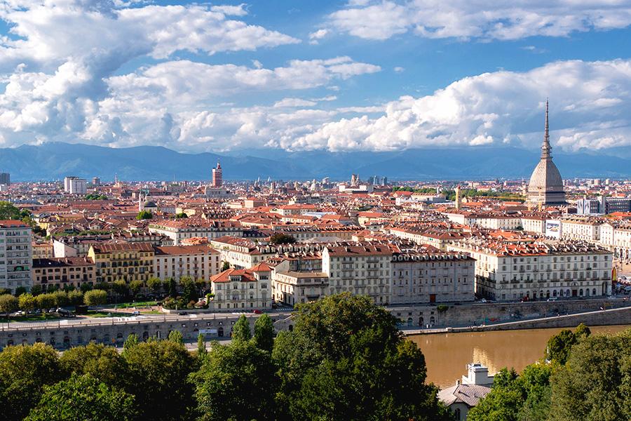 トリノ、街並み、イタリア風景