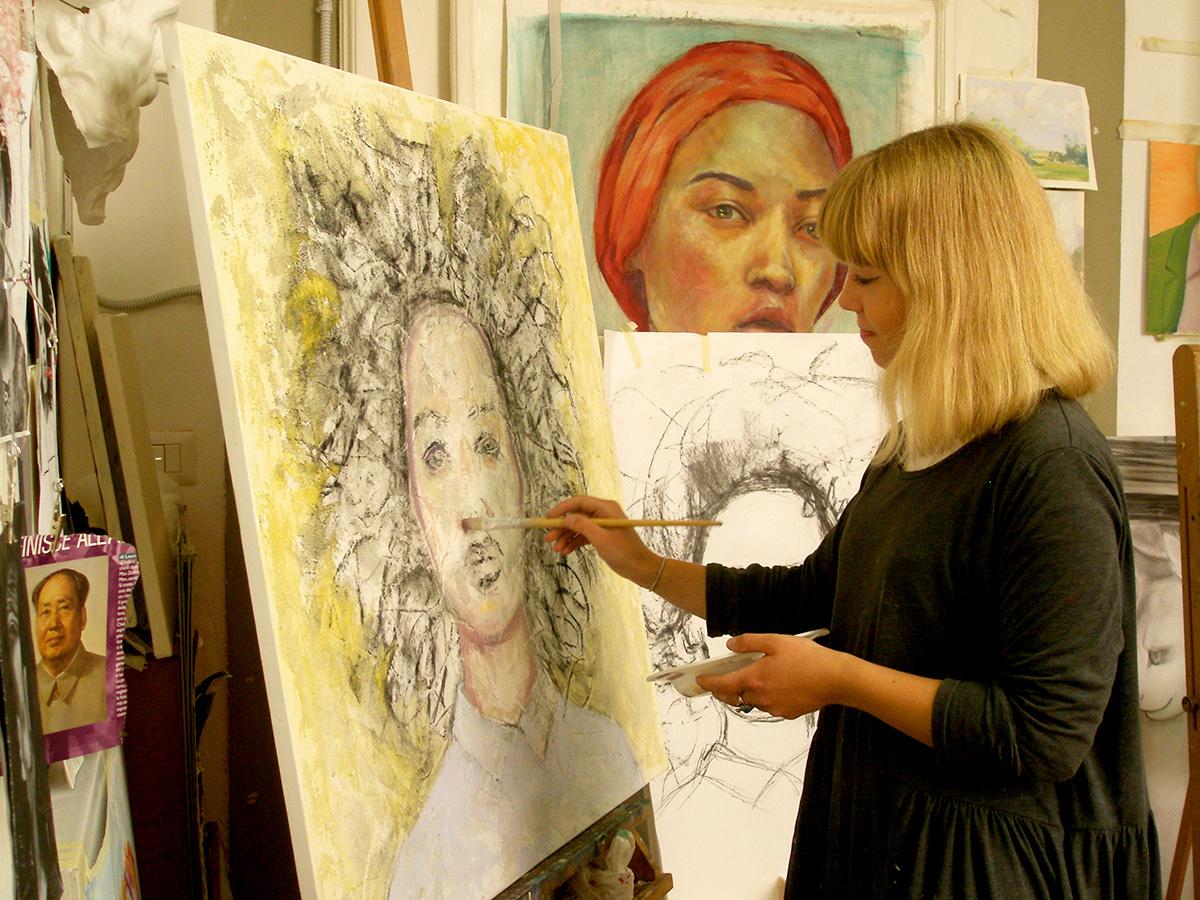 留学風景、絵画、美術留学、アート留学