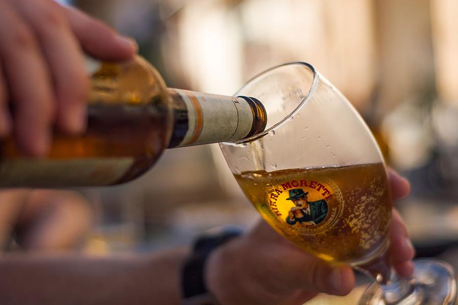 イタリアお酒、ビール、モレッティ