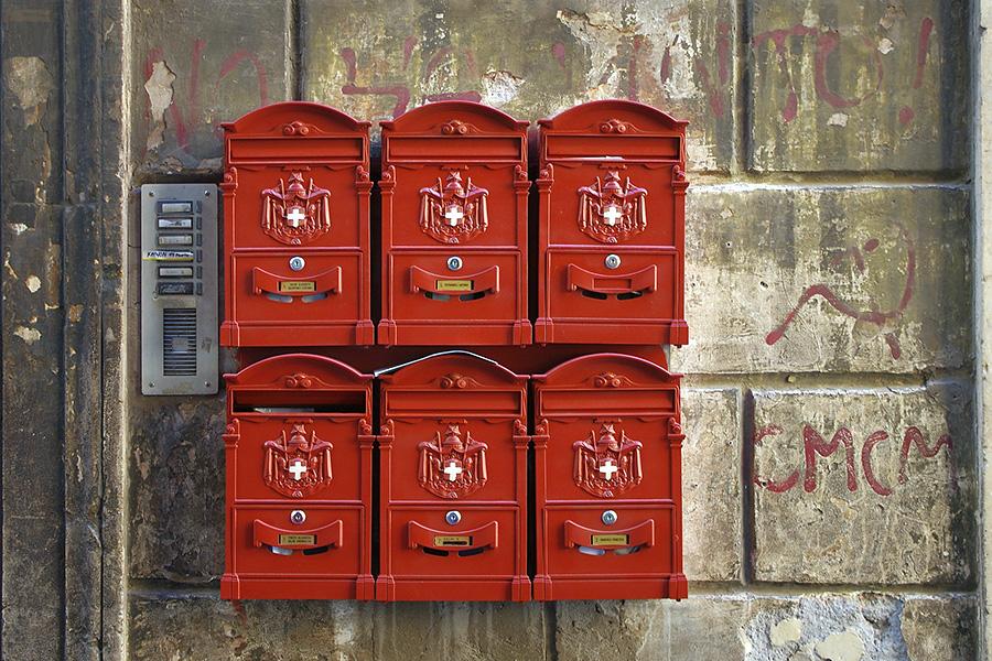 イタリア生活、郵便ポスト、イタリア郵便ポスト