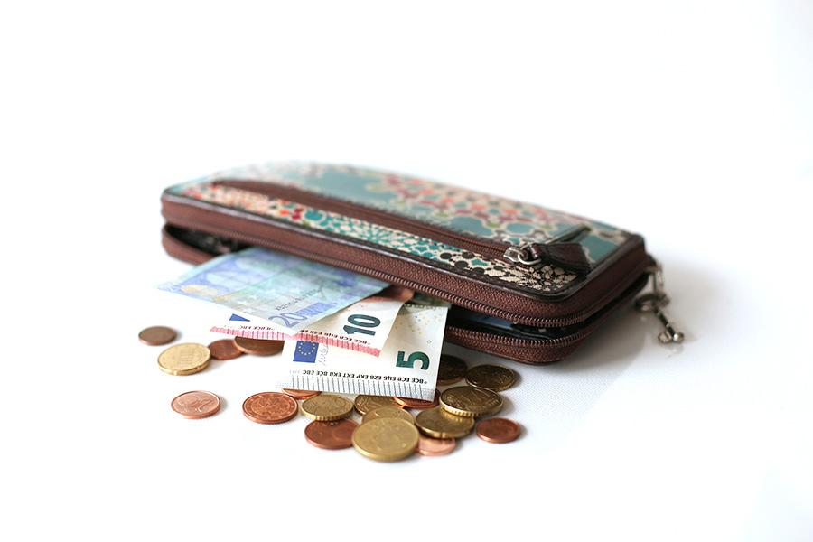 イタリア生活、お財布、ユーロ紙幣、ユーロコイン、
