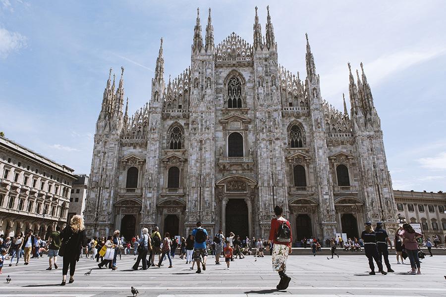 イタリア風景、ミラノ、大聖堂、ドゥオーモ