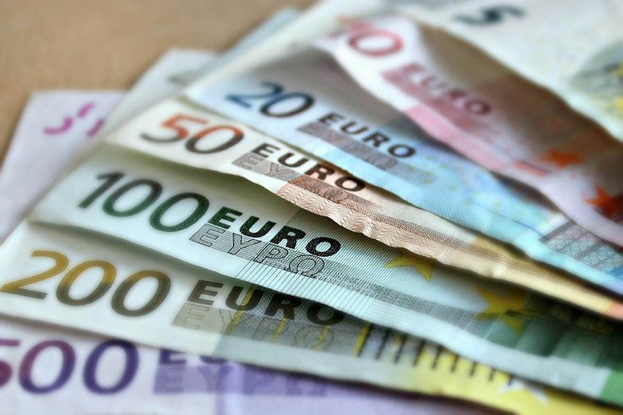 ユーロ紙幣、紙幣、お金、ユーロ札