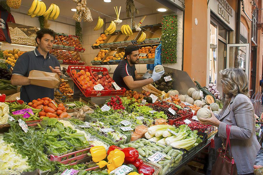 イタリアの八百屋、イタリア語で買い物、イタリア生活