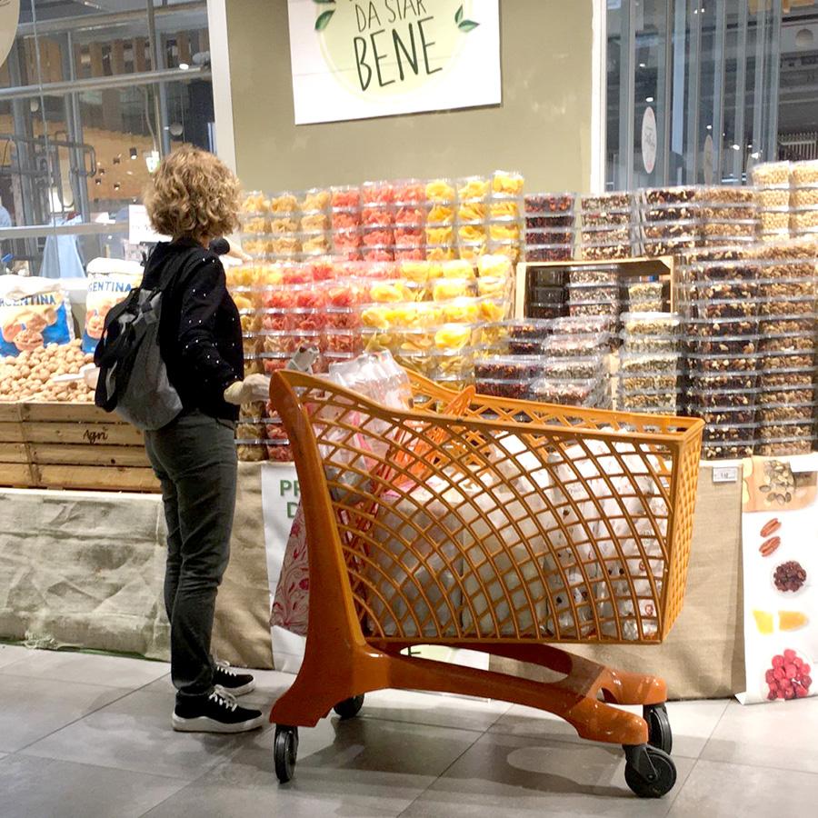 イタリアスーパーマーケット、カート