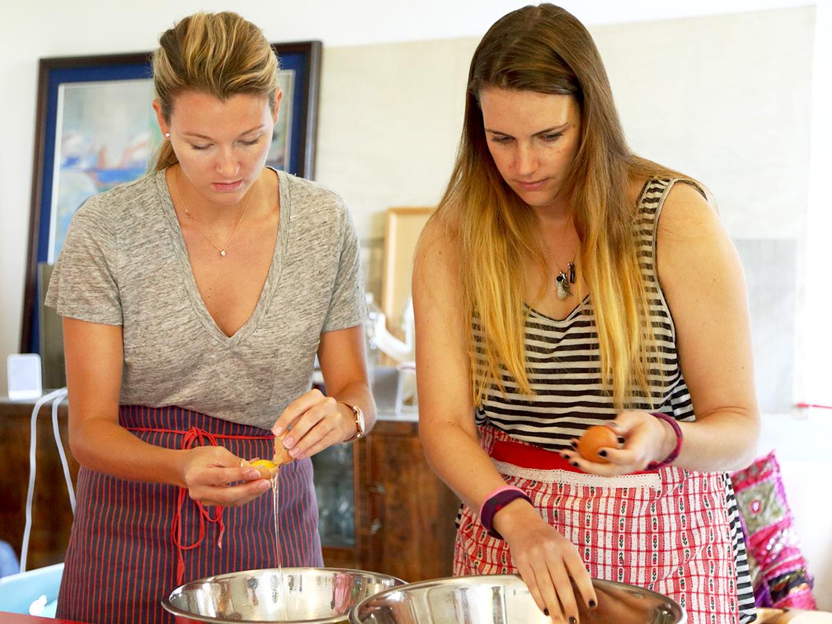 家庭料理クラス風景