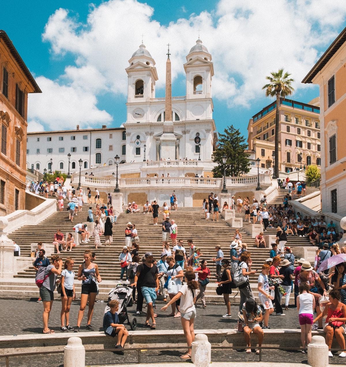 スペイン階段、イタリア、ローマ