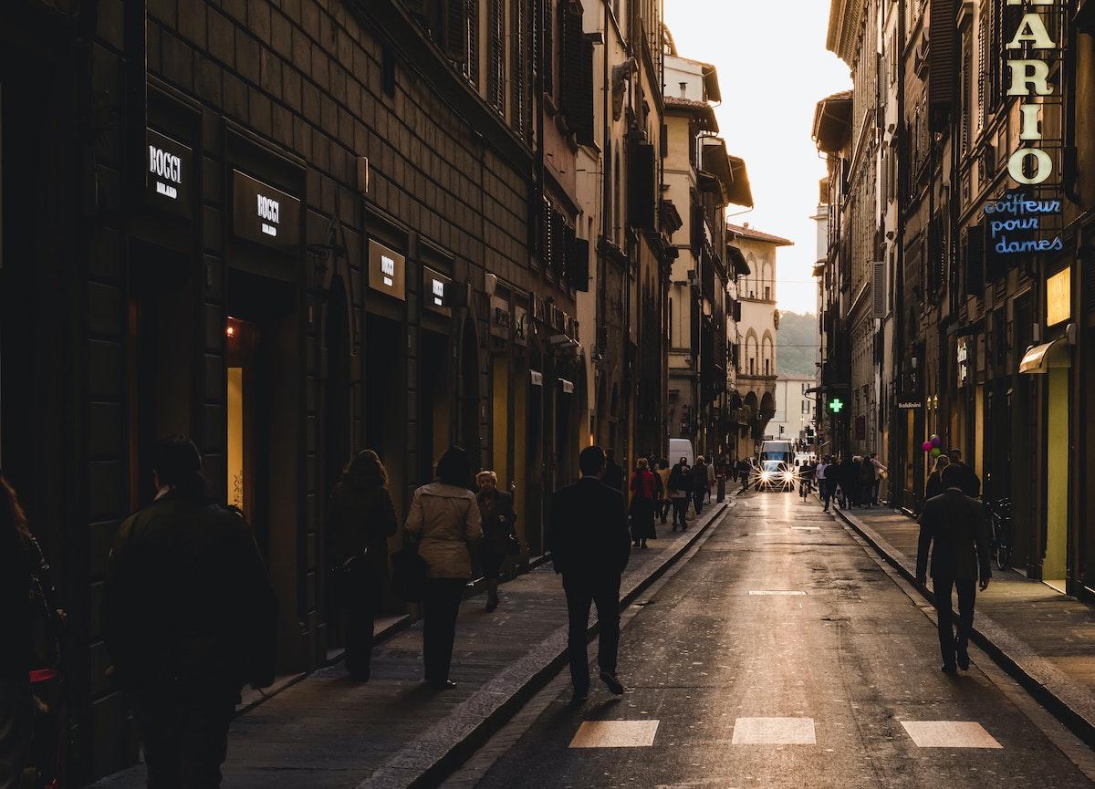路地裏、イタリア風景、イタリア