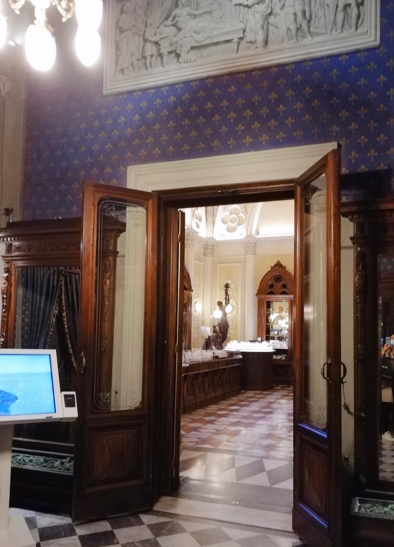 サンタマリアノヴェッラ薬局、内装、扉、イタリア、フィレンツェ