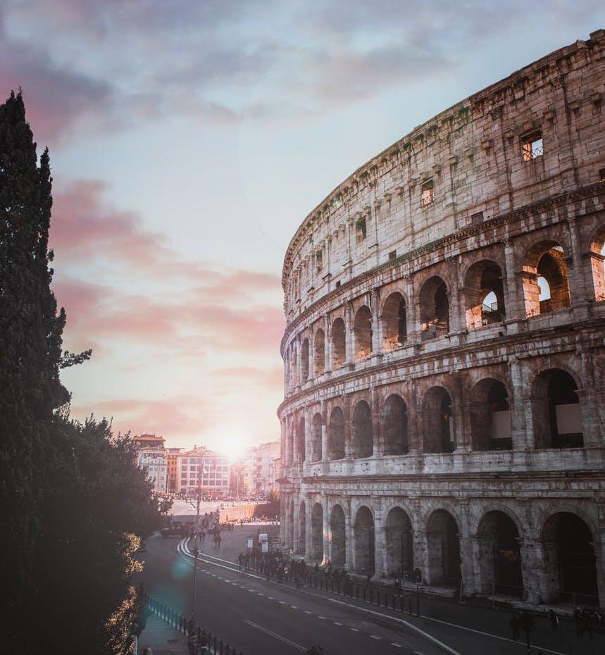 ローマ、コロッセオ、イタリア風景、イタリア
