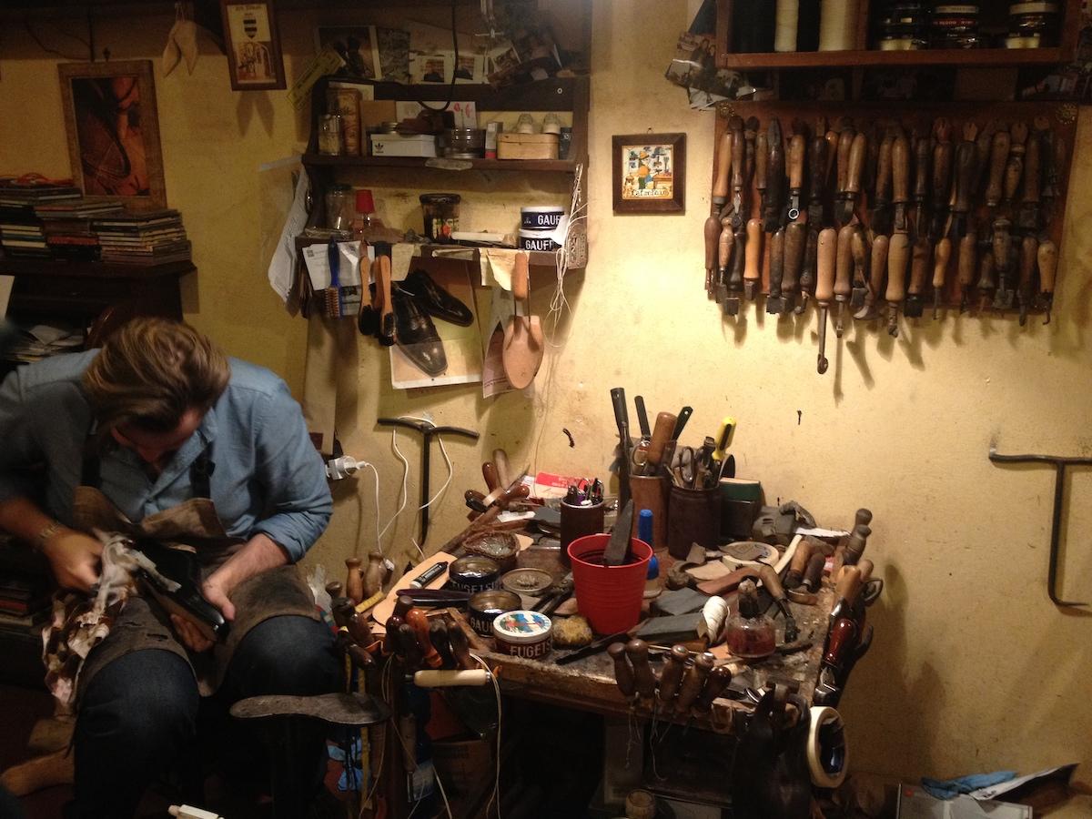 イタリア靴職人、工房、