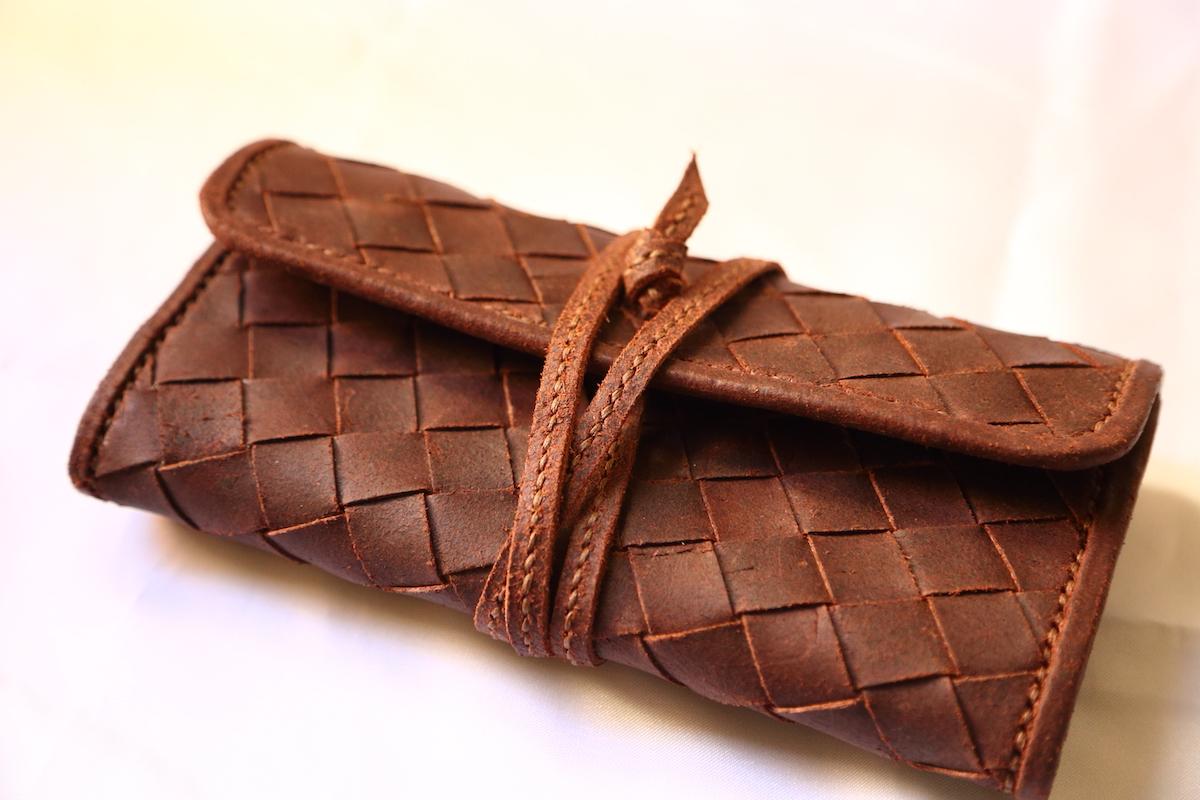 財布、革製品、職人の作品
