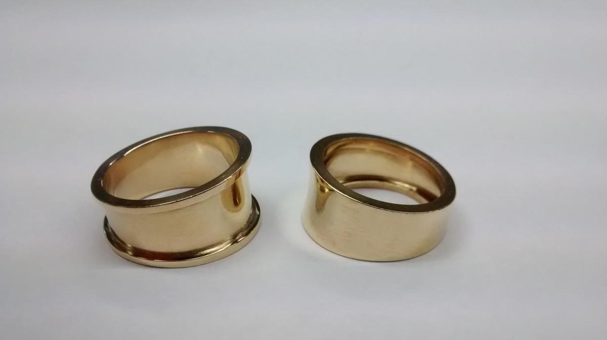 指輪、シンプルリング、職人の技、ジュエリー職人