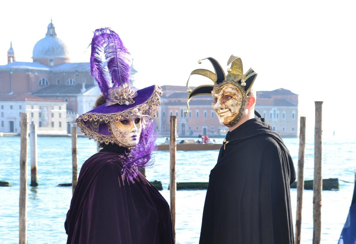 カーニバル、ベネツィア、仮装、イタリア風景