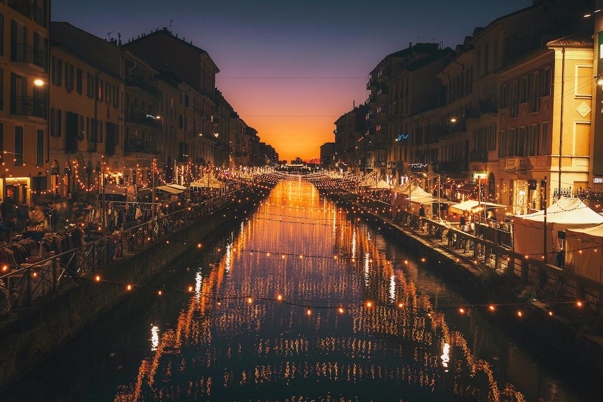 イタリア夜、イタリア風景