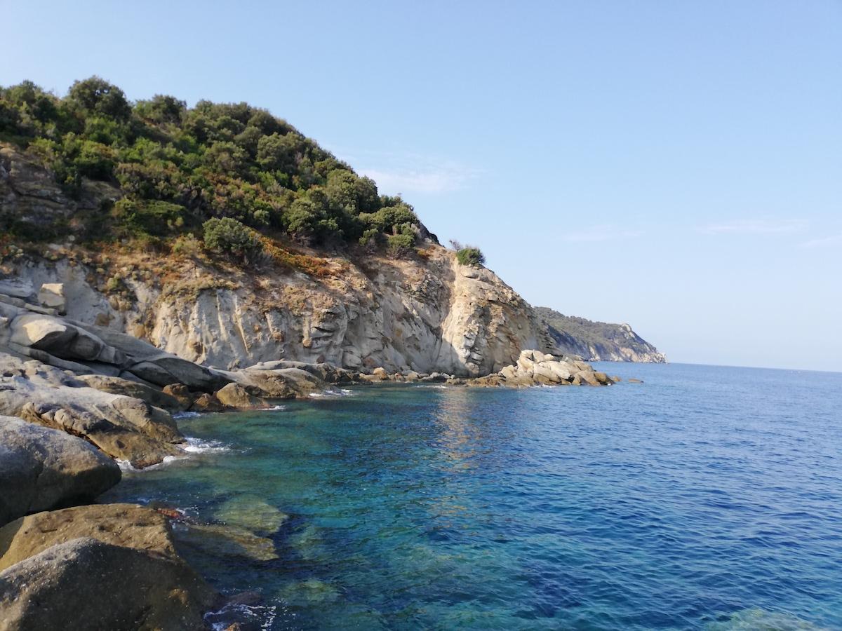 エルバ島、美しい海、イタリア風景、トスカーナ州