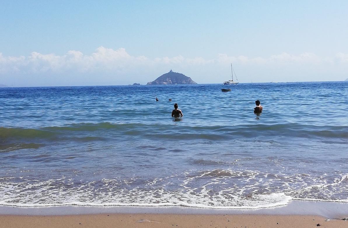 エルバ島、海岸、イタリア風景