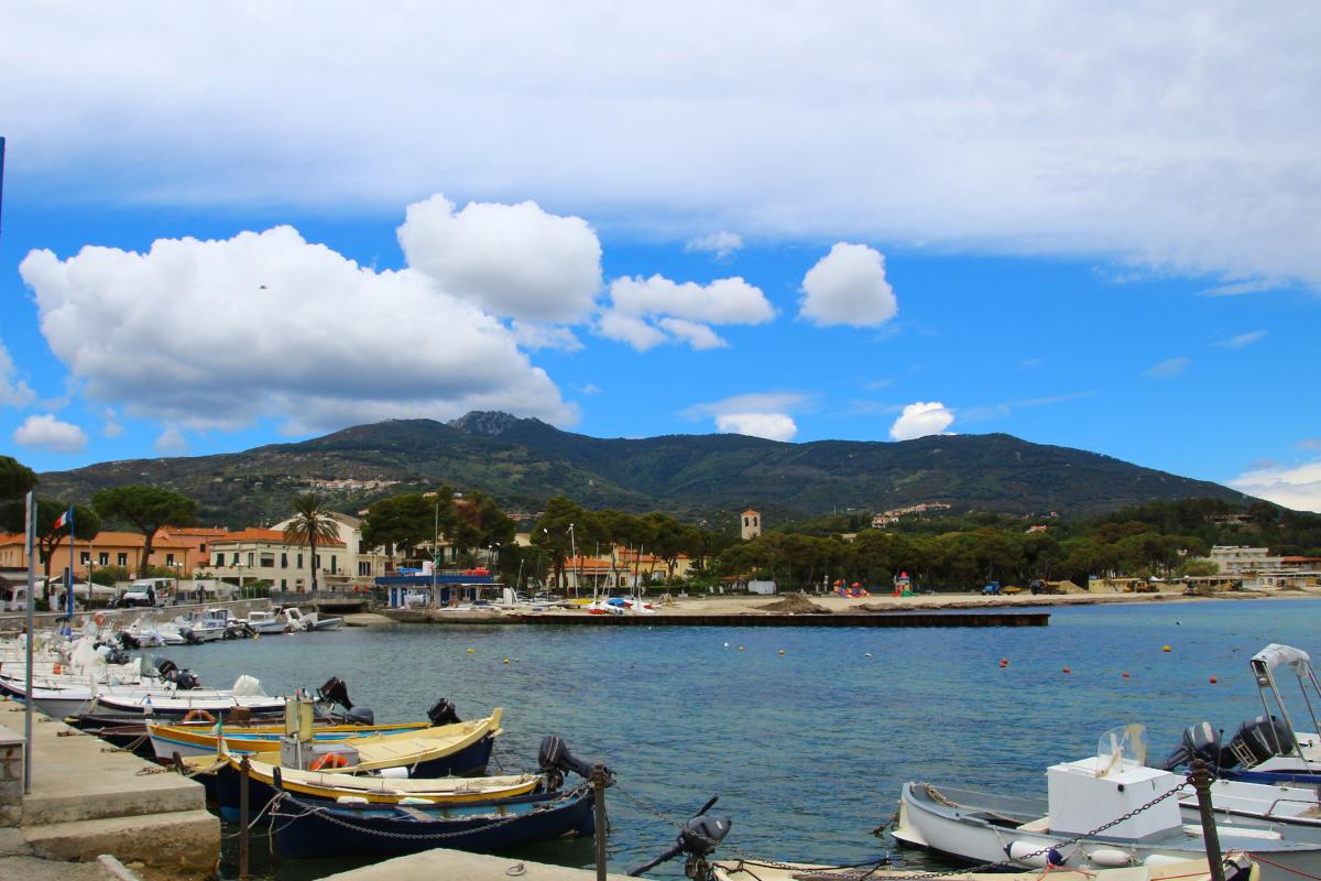 エルバ島、港、イタリア風景