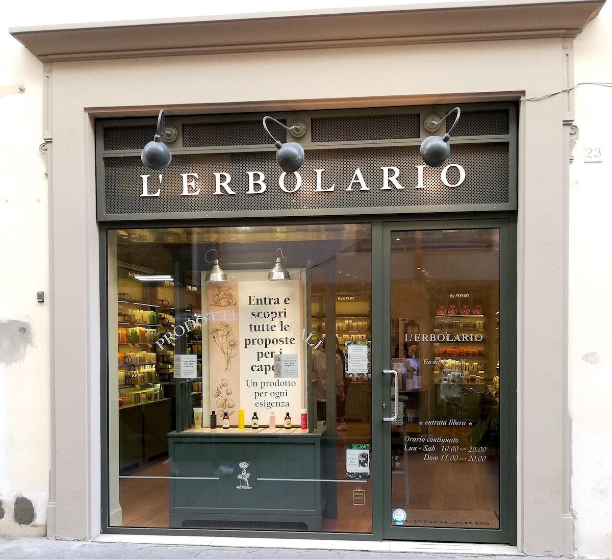 レルボラリオ、l'erbolario、レルボラリオウィンドウ、レルボラリオ店舗、ハーブ専門店